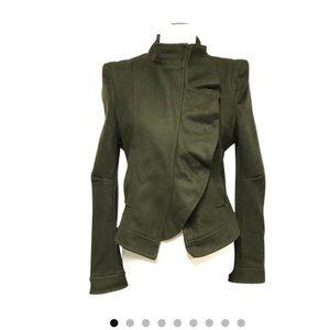 BCBG Maxazria green wool jacket